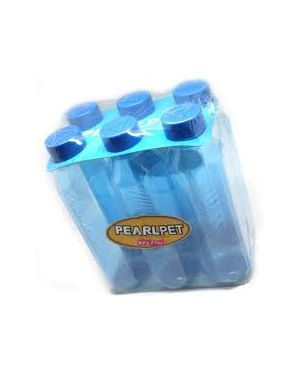 Pearlpet-Supreme-Topaz-Water-Bottle-1-litre-Transparent-Pack-of-6